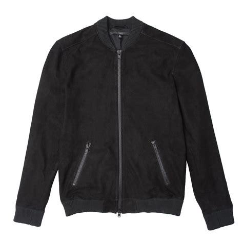 Jaket Bomber Black mens suede bomber jacket in black 350 dstld