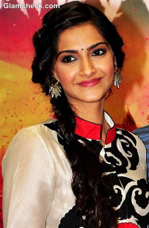 sonam kapoor hairstyles in saree sonam kapoor side braid hairstyle bridal hairdos