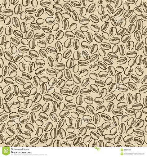 coffee beans seamless pattern background vector stock