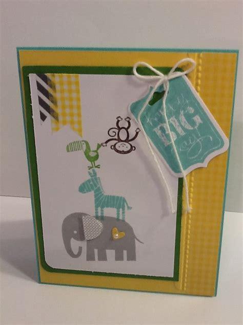 Tunik Set 2 In 1 stin up card using zoo babies st set cardmaking