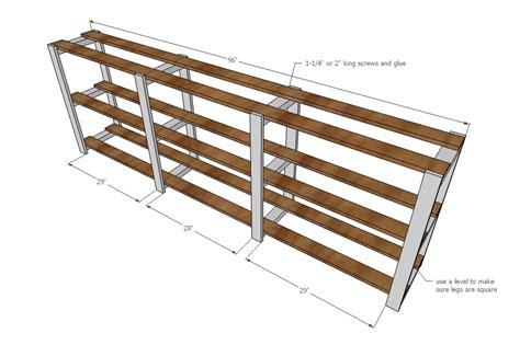 2x4 Shelf Plans by White Easy Wood Slat Swedish Style Shelving Diy