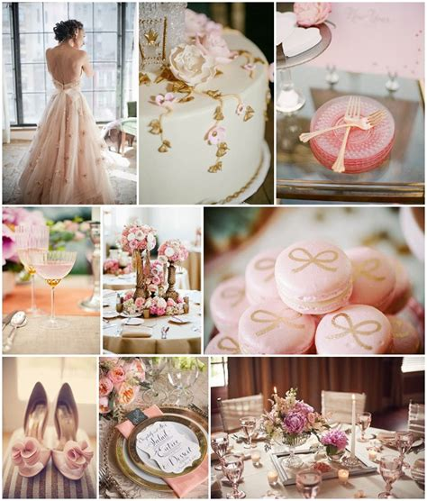 rose theme wedding ideas vintage pink and gold wedding ideas