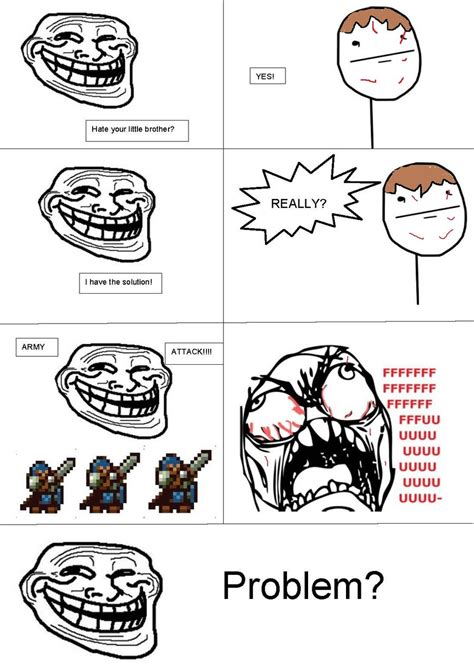Meme Comic Strip - little brother rage comic by gamerlachb on deviantart