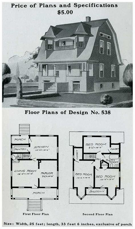 early 1900s house plans early 1900 house plans