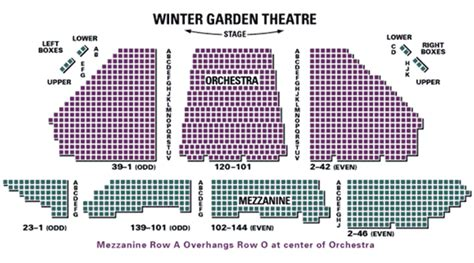 winter garden theatre nyc seating chart biglietti per rocky a winter garden theatre a broadway a
