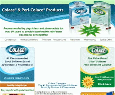colacecapsules colace and peri colace products home
