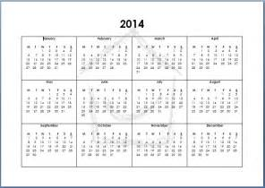 2014 12 Month Calendar Template by 5 Best Images Of 12 Month Calendar 2014 Printable