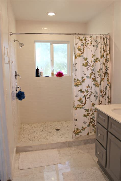 walk in shower with curtain walk in shower curtain ideas pros and cons of a walk in
