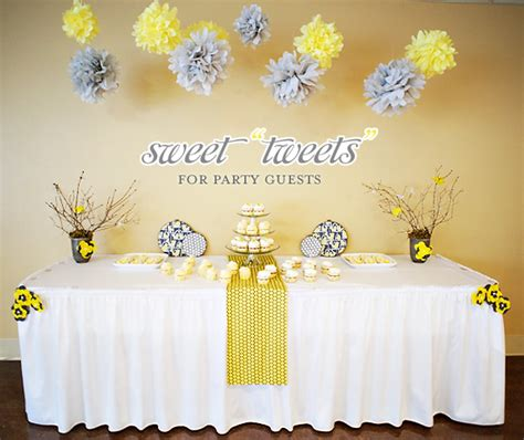 Gray And Yellow Baby Shower by Bird Inspired Baby Shower Yellow Gray Hostess With