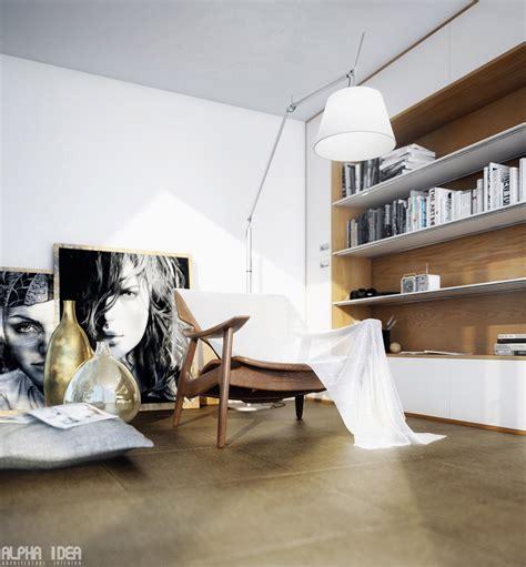 Home Interior Design Outlook Recessed Bookcase Interior Design Ideas