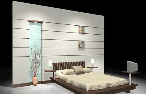 bed back wall design bed with back wall 3d model max cgtrader com
