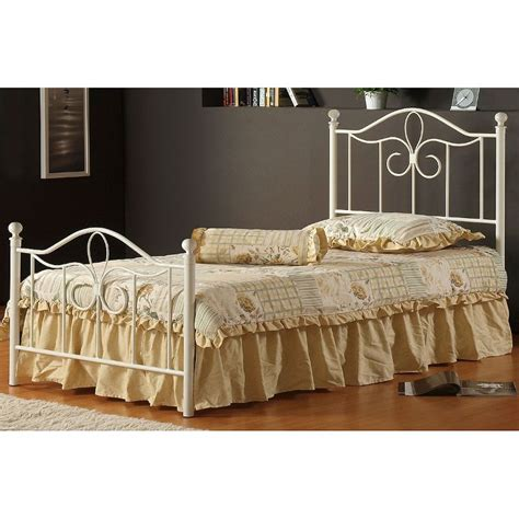 Cottage Style Beds by Cottage Style White Metal Canopy Bed Rcwilley