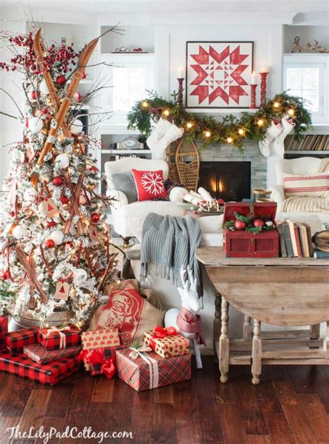 diy christmas decorations casual cottage cozy ski lodge inspired christmas tour pinterest