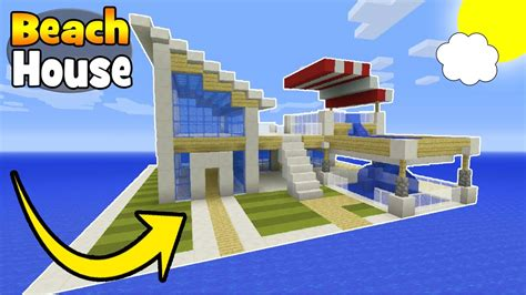 how to build a beach house in minecraft minecraft tutorial how to make a modern beach house