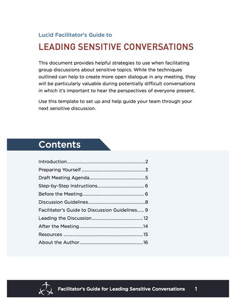 facilitator guide template word leading a sensitive conversation lucid meetings