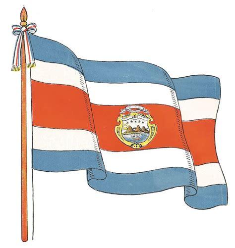pabellon tricolor letra la bandera gu 237 as costa rica
