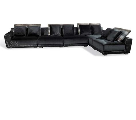 crocodile leather couch dreamfurniture com black crocodile leather sectional sofa