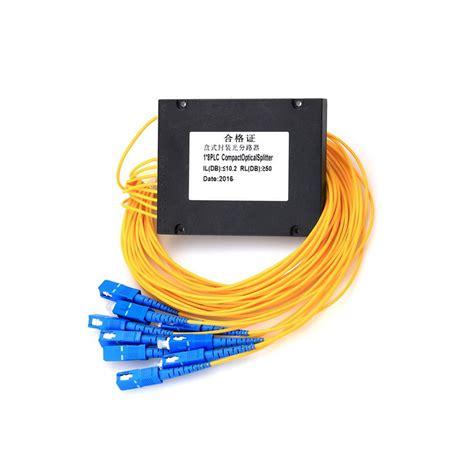 Fiber Optic Passive Splitter 1x2 With Modulebox modular abs box type plc fiber optic splitters