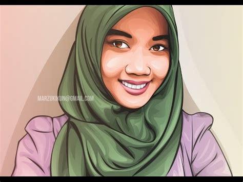 tutorial menggambar wanita berhijab full download tutorial vector corel draw menggambar
