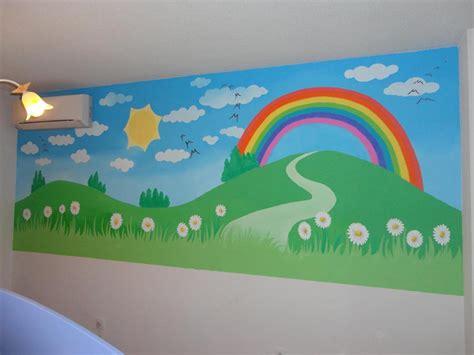 imagenes infantiles murales mural infantil arcoiris