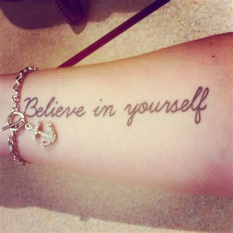 Tattoo Infinity Believe In Yourself | cute tattoo quot believe in yourself quot my tattoo