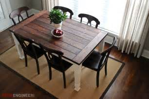 Farmhouse Dining Room Table Plans Diy Farmhouse Table Free Plans Rogue Engineer