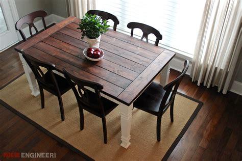 diy farmhouse table  plans rogue engineer