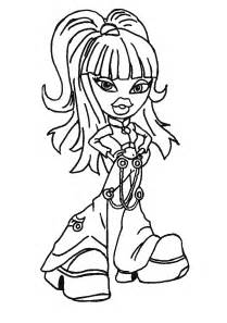 free printable bratz coloring pages kids