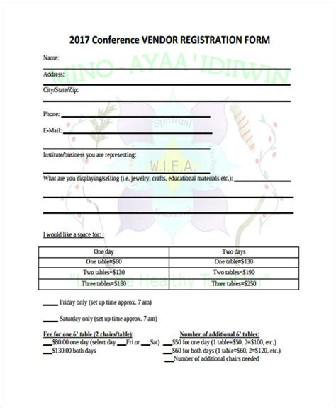 Vendor Conference Invitation Letter vendor registration form tablefloorlayoutmap