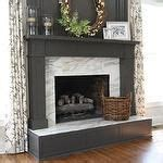 Calcutta Marble Fireplace by White Brick Fireplace Simple Styling Family Living