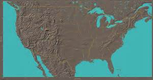 blank map of us landforms
