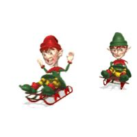 santa s elves animated gifs gifmania