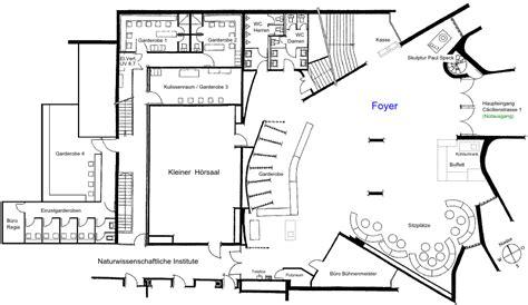 Foyer Grundriss by Saal Infrastruktur Foyer Aula R 228 Mib 252 Hl Z 252 Rich