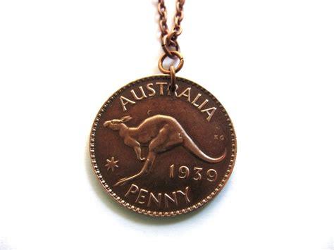Australian Handmade Jewelry - australian coin necklace pendant 1939 australia