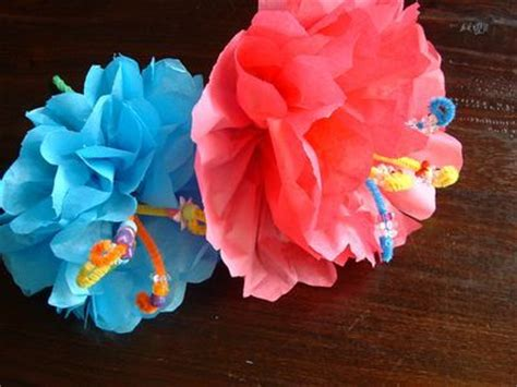How To Make Hawaiian Paper Flowers - tissue paper flowers hawaii tissue paper