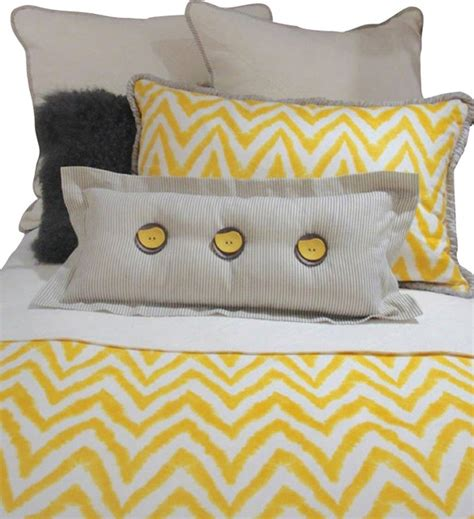 yellow and white bedding set gray yellow and white chevron bedding and pillow