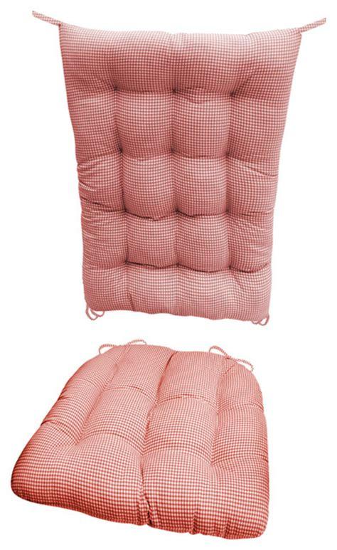 farmhouse chair cushions madrid gingham rocking chair cushions fill