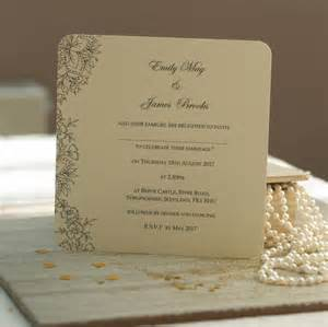 vintage lace wedding invitations by beautiful day notonthehighstreet