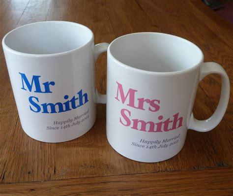 personalised mr and mrs mugs by british and bespoke