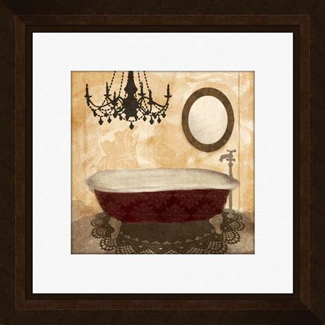 framed art for bathroom walls ptm images 17 1 4 in x 17 1 4 in quot poppy bath a quot framed