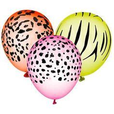 printable animal balloon decals felt safari and stickers on pinterest