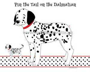 lynnetteart pin the tail on the dalmatian dog game
