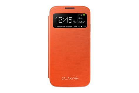 S View Cover Samsung Galaxy S4 Original 100 Orange samsung original ef ci950 s view flip cover galaxy s4