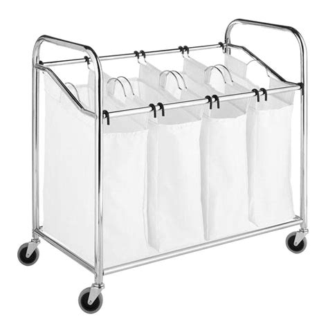 Laundry Sorter With Folding Table Seville Classics 3 Bag Laundry Sorter With Folding Table Web182 The Home Depot