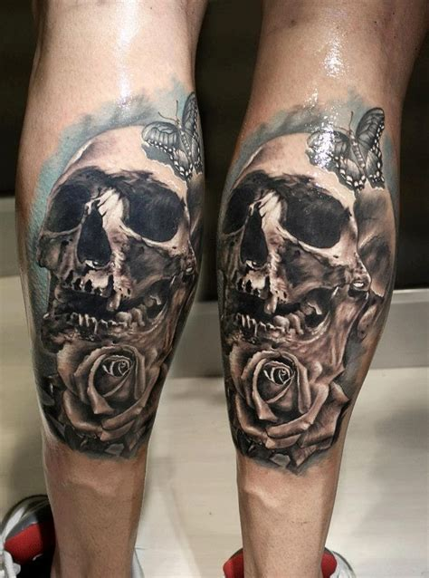 tattoo ideas on leg leg skull designs health styles