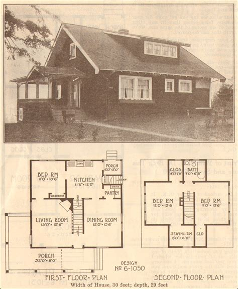 old house blueprints 1915 bungalow hewitt lea funck company plan no 6 1050