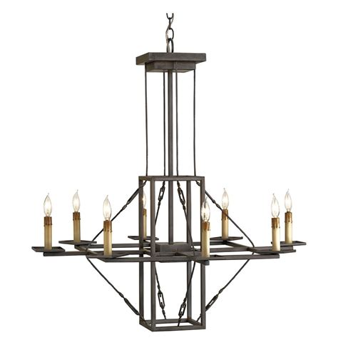 Modern Iron Chandelier Arts Crafts Modern Chunky Iron Chandelier Kathy Kuo Home