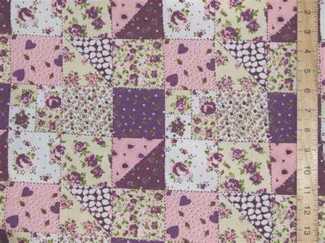 Patchwork Print Fabric - patchwork printed polycotton fabric