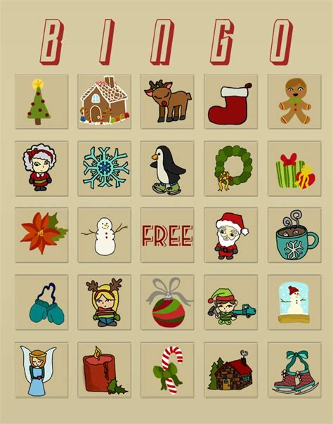 punk projects christmas bingo cards free download