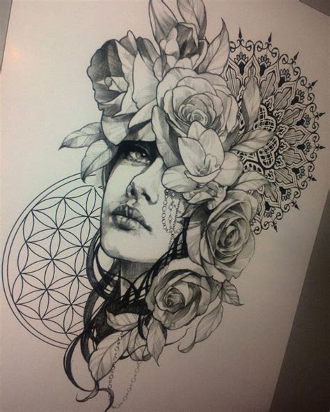 tattoo ink art tattoo idea but i want to replace the woman s face with a